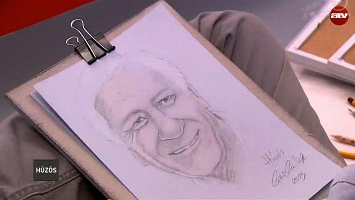 Benkó Sándor portréja már aláírva