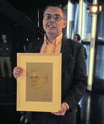 Dragomán György író és portréja