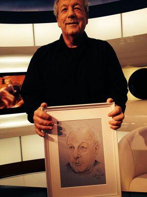 Vámos Miklós író és portréja