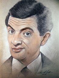 Mr. Bean / Rowan Atkinson - ceruza rajz