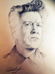 David Lynch portré - ceruza rajz