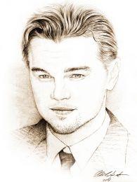 Leonardo DiCaprio portré - ceruza rajz