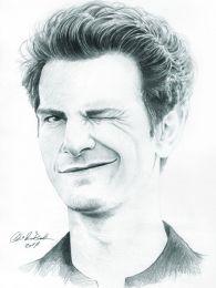 Andrew Garfield - ceruza rajz