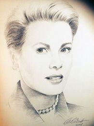 Grace Kelly portré - ceruza rajz
