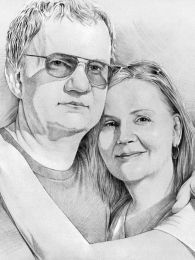 Házaspár duplaporté - ceruzarajz
