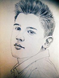 Kamasz fiú - ceruza rajz