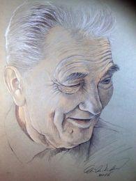 Idős bácsi - ceruza rajz