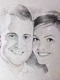 Esküvői kép alapján - ceruza rajz
