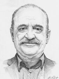 Idős úriember portréja - ceruza rajz