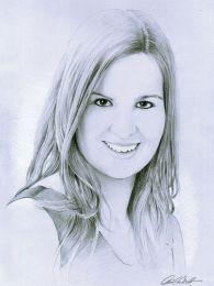 Végzős lány portréja - ceruzarajz