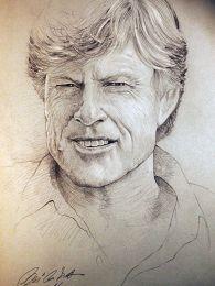 Robert Redford portré - ceruza rajz
