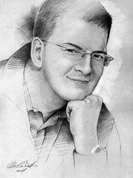 Férfi portré - ceruza rajz