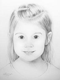 Kislány portré - ceruza rajz